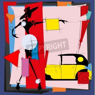 Quadro Illustrazione di moda nello stile del cubismo