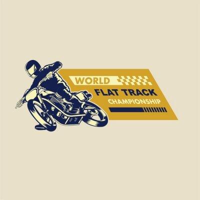 Quadro illustrazione di racer pista piatta