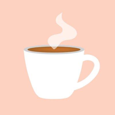 Quadro illustrazione di vettore icona-tazza di caffè caldo