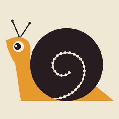 Quadro Illustrazione Snail Vector