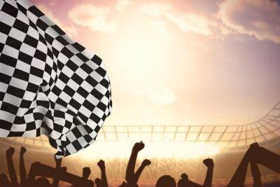 Quadro Immagine composita di bandiera a scacchi