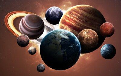 Quadro immagini ad alta risoluzione presenta pianeti del sistema solare. Questi elementi immagine fornita dalla NASA