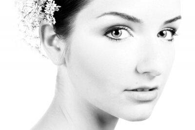 Quadro In bianco e nero close-up di una bella donna