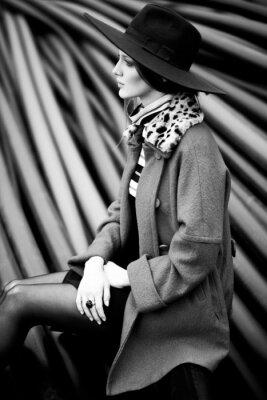 Quadro in bianco e nero moda donna