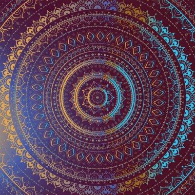 Quadro Indian pattern decorativo.