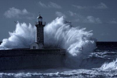 Quadro Infrarossi faro tempesta