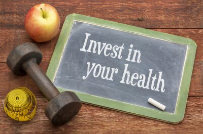 Quadro Investire nel vostro consiglio di salute sulla lavagna