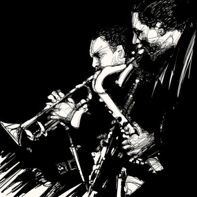 Quadro jazz brass musicista