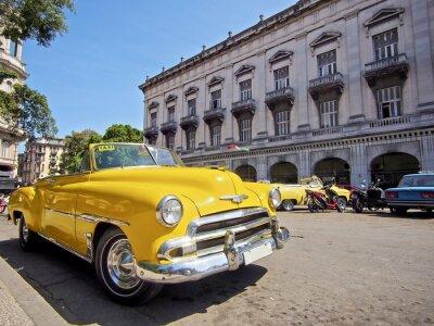 Quadro Kuba, avana mit Oldtimer