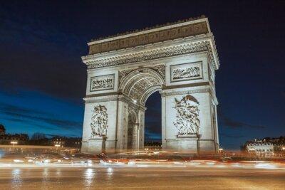 Quadro L'Arco di Trionfo in serata.
