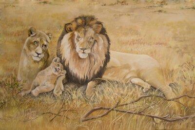 Quadro L'orgoglio di leoni in vacanza