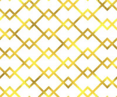Quadro L'oro lamina d'epoca sfondo geometrico seamless