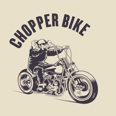 Quadro L'uomo guida una bici personalizzata