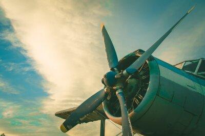 Quadro La cabina di guida del vecchio aereo. Aerei abbandonati