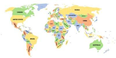 Quadro La mappa politica del mondo