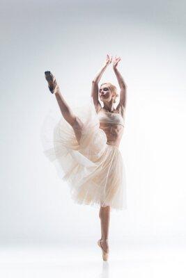 Quadro La silhouette della ballerina su sfondo bianco