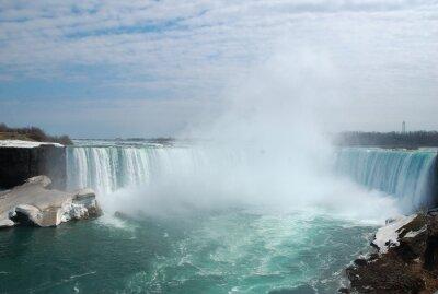 Quadro La spettacolare Niagara Falls in inverno.