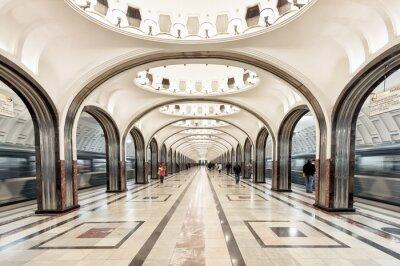 Quadro La stazione della metropolitana Mayakovskaya a Mosca, Russia