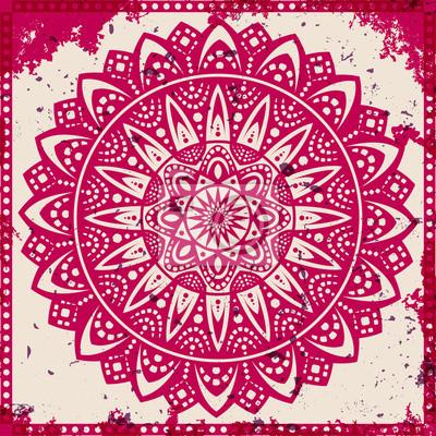 Quadro Lace ornamento su sfondo grunge
