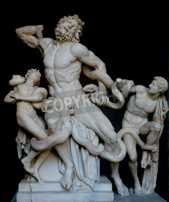 Quadro Laocoon and his sons, famous classical greek statue