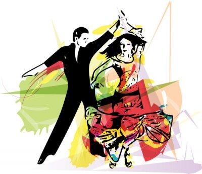 Quadro Latino Dancing couple