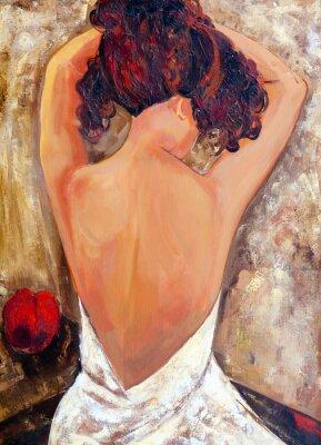 Quadro Lato opposto di una bellezza (pittura ad olio)