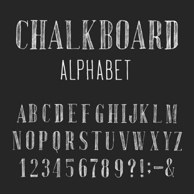 Quadro Lavagna Alphabet Font Vector