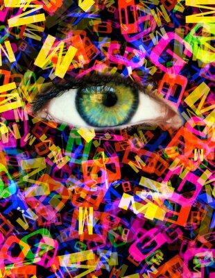 Quadro Lettera Eye