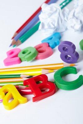 Quadro Lettere dell'alfabeto di plastica