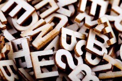 Quadro Lettere di legno confuse vicino