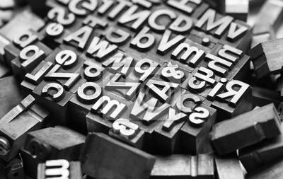 Quadro lettere di stampa