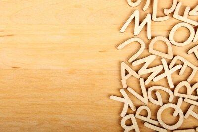 Quadro Lettere e numeri