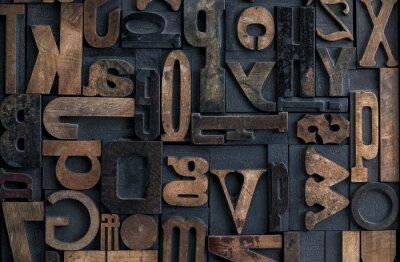 Quadro letterpress alfabeto