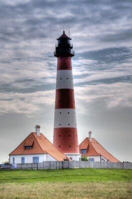 Quadro Leuchtturm Westerheversand in Westerhever