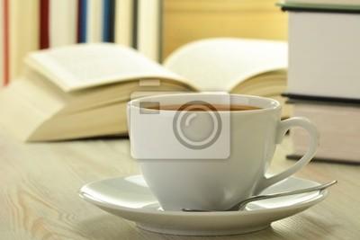 Quadro Libri e tazza di caffè sul tavolo