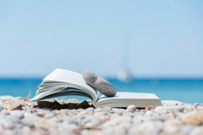 Quadro Libro sulla spiaggia
