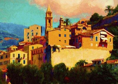 Quadro Liguria paesaggio