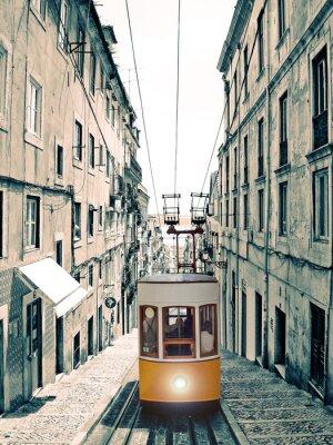 Quadro Lisboa - Velho elevador Amarelo