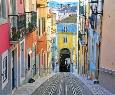 Quadro Lisbona funicolare Bica
