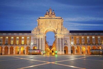 Quadro Lisbona. Immagine di Arco di Trionfo a Lisbona, Portogallo.