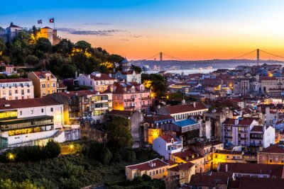 Quadro Lisbona nigth