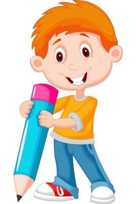 Quadro Little boy con la matita