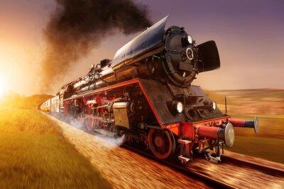 Quadro locomotiva a vapore