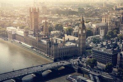 Quadro Londra città vista aerea