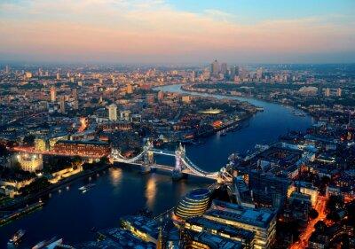 Quadro Londra di notte