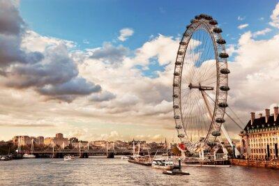 Quadro Londra, Inghilterra lo skyline Regno Unito. Il Tamigi