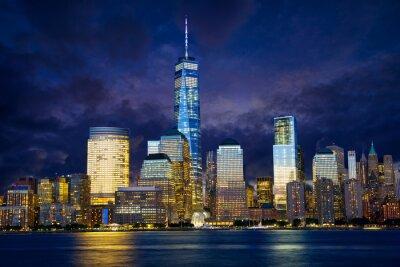 Quadro Lower Manhattan al crepuscolo, New York