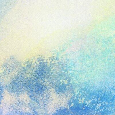 Quadro Luce astratta blu dipinto schizzi ad acquerello sfondo
