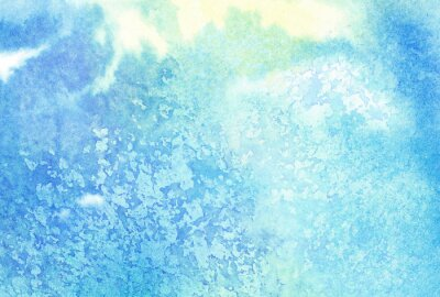 Quadro Luce blu dipinto schizzi ad acquerello o nube, cielo
