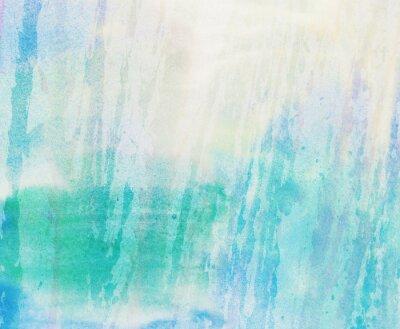 Quadro Luce blu, verde acquerello dipinto spruzza la priorità bassa